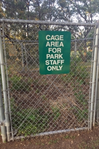 Sign - Cage Area